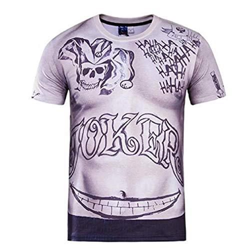 Camiseta - Joker - Suicide Squad - Hombre - Cosplay - Película - TV (Talla XL)