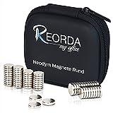 Reorda Neodymmagnete mit höchstmöglicher Magnetisierung - Hochwertige Magnetsets aus 30 oder 60 extra starken Supermagneten 10x2mm - Neodym Magnet Set - vielseitig einsetzbar