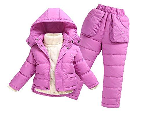 Harveyman Le ragazze dei ragazzi calda tuta con cappuccio piumino