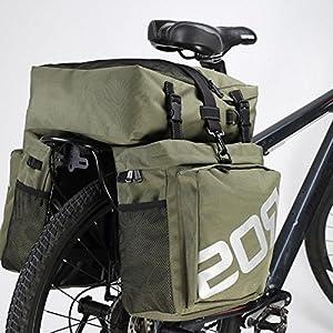 Life-Plus Roswheel 37L 3 en 1 Impermeable Bolsa de Bicicleta Sillín Alforjas Tija Sillín de Ciclismo Mutifunción Bolsas para Asiento Paquete, Verde