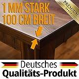 ANRO Tischdecke Tischfolie Schutzfolie Tischschutz Folie 1mm transparent 100cm Breit Länge wählbar