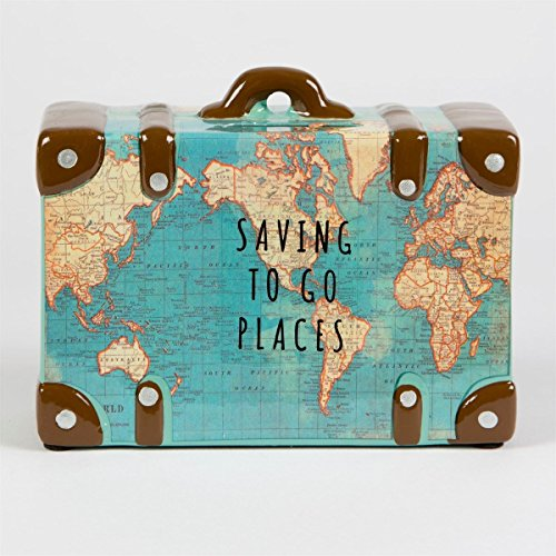 Preisvergleich Produktbild Saving To Go Map Places Suitcase Money Bank