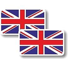 Etiqueta engomada del vinilo/pequeños de bandera de Reino Unido - par