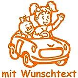 Babyaufkleber Autoaufkleber für Geschwister mit Wunschtext - Motiv G1-MM (16 cm)