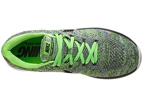 Nike Flyknit Lunar3, Chaussures de Running Entrainement Homme, Taille Gris / Negro / Verde / Blanco (Cl Grey / Blk-Grn Strk-Smmt Wht)