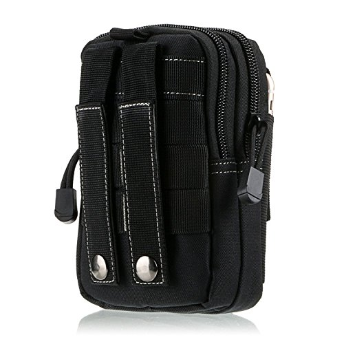 Tactical Sport & Outdoor Tasche Kompakt Outdoor Mehrzweck-Utility Gadget Werkzeug Gürtel Taille Tasche Pack Schwarz