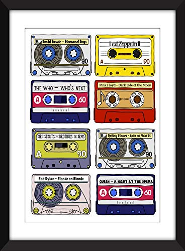 Classic Rock Albums - Unframed Print - Ideal Gift for Music Fan/Ungerahmter Druck -