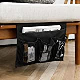 HAKACC Bedside Storage Organizer,Table Cabinet Storage Organizer,Bedside Caddy (Black)