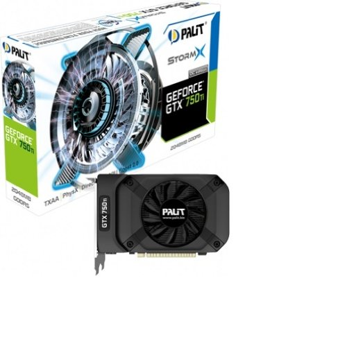 Palit NE5X75TS1341F GeForce GTX 750Ti StormX OC Grafikkarte (PCI-e, 2GB GDDR5, mHDMI, Dual-link DVI-D, CRT, 2X GPU)