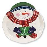 Vassoio in melamina, Pupazzo di neve natalizio, ideale per lasciando Biscotti per Babbo Natale