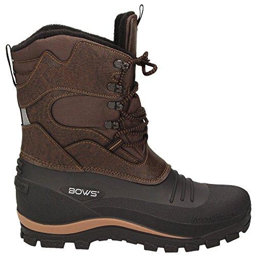 BOWS® -KARL- Herren Jungen Schuhe Winter Boots Schnee Stiefel Halbschaft wasserdicht wasserabweisend Braun