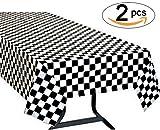 Yooyee Manteles mesa rectangular, 2 Paquetes Blanco Manteles de Plástico, 137 x 274cm Desechables...