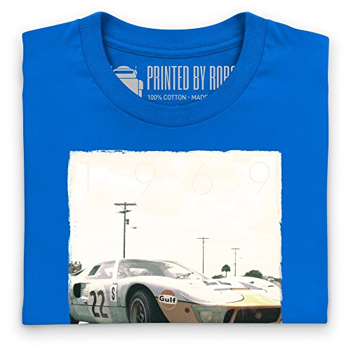 Official LAT Photographic Ickx & Oliver, 1969 Sebring 12 Hours T-Shirt, Damen Royalblau