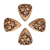 Laser Tones LASTGAD4 Almondwood Art Deco Lot de 4 médiators pour Guitare