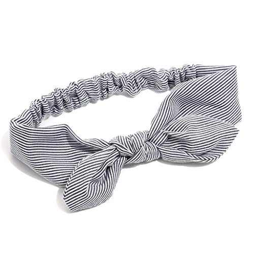 el, Baby gestreifte Kleinkind Bogen Knoten Haarband (Schwarz) ()