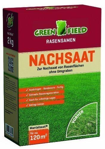 Greenfield 62521 Nachsaat Rasensaat Rasensamen 2 kg für ca. 120 qm
