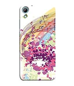 Fuson Designer Back Case Cover for HTC Desire 826 :: HTC Desire 826 Dual Sim (Graphics Painting Colorful Musical Male Female Peace)