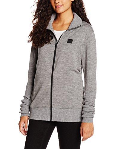 Onepiece Unisex Sport Sweatshirt High Neck Zip Merino, Grau (Grey Mel), 38 (Herstellergröße: M) -