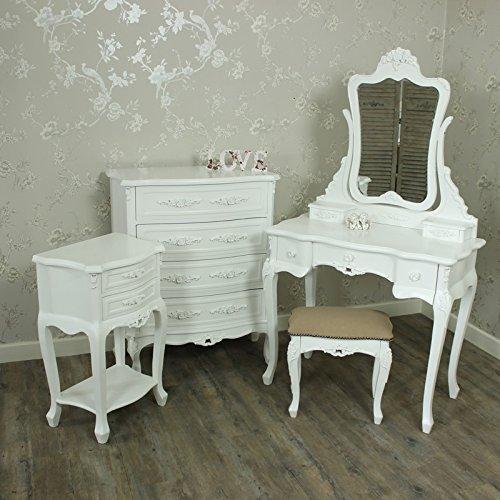 Melody Maison Rose Range–Möbel Bundle, Schminktisch Spiegel und Hocker Set, Kommode und Nachttisch Tisch