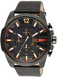 Diesel Dz4291'S Watch Quartz Chronograph Stopwatch-Black Leather S