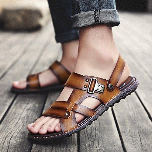 Xing Lin Sandales Pour Hommes La Nouvelle Angleterre, Hommes Sandales En Cuir De Grande Qualité Pour Les Jeunes Les Jeunes Hommes Sandales Sandales Khaki
