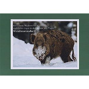 Jagdliche Weihnachtskarte, Textkarte mit Motiv, von Handmadegruss edel, zeitlos, klassisch. Die Top neue Jagd Weihnacht! Faire Handwerkspreise!