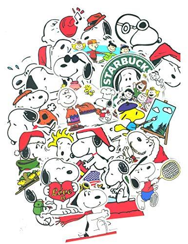 SetProducts ⭐Top Aufkleber! ⭐ Set von 60 Snoopy Aufkleber - Premium Qualität - Vinyls Stickers Nicht Vulgär - Peanuts, Stil, Bombe, Graffiti - Anpassung Laptop, Gepäck, Motorrad, Fahrrad, Skateboard
