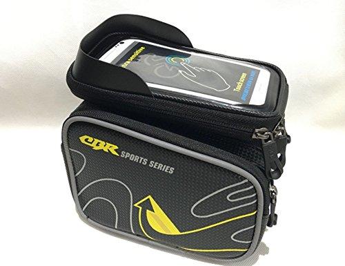 """Wasserabweisende Fahrradrahmentasche & Handyhalterung, geeignet für Handy mit Größe unten 5,7"""" Lenkertaschen gelb"""