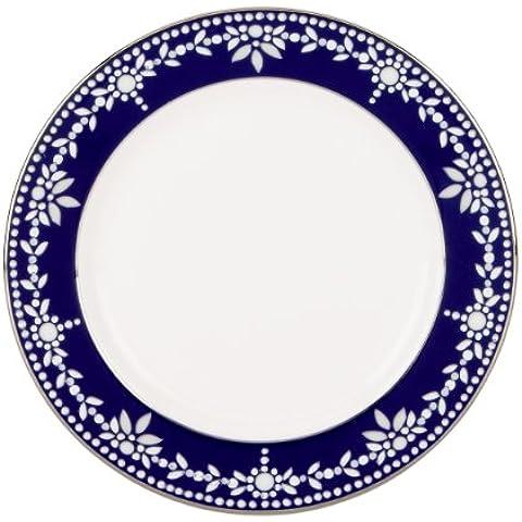 Lenox Marchesa Couture placa de la mantequilla, el imperio de la perla azul
