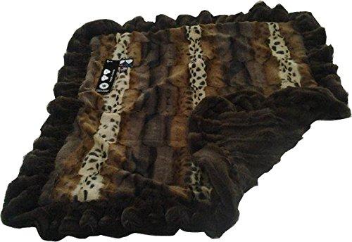 bessie-and-barnie-pet-blanket-large-wild-kingdom-godiva-brown-with-ruffle