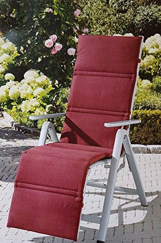 Relaxsessel-Auflage ROT Relaxauflage Relaxpolster Hochlehnerauflage GARDENLINE