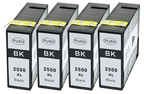 Preisvergleich Produktbild Druckerpatrone Tintenpatrone kompatibel für Canon PGI2500XL PGI-2500XL 4 schwarz mit Chip geeignet für Canon MAXIFY iB4000 Series MB 5000 Series iB4050 iB4150 MB5050 MB5150 MB5350 MB5450