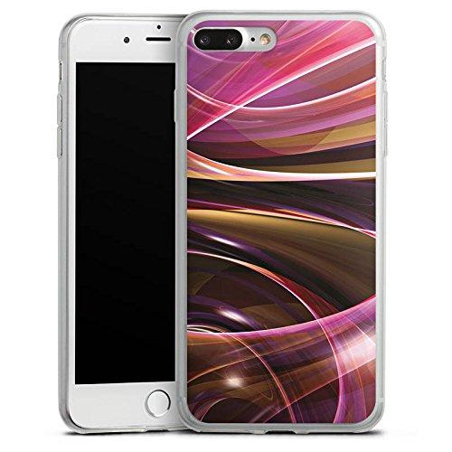 Apple iPhone 8 Plus Slim Case Silikon Hülle Schutzhülle Wirbel Strudel Muster Silikon Slim Case transparent