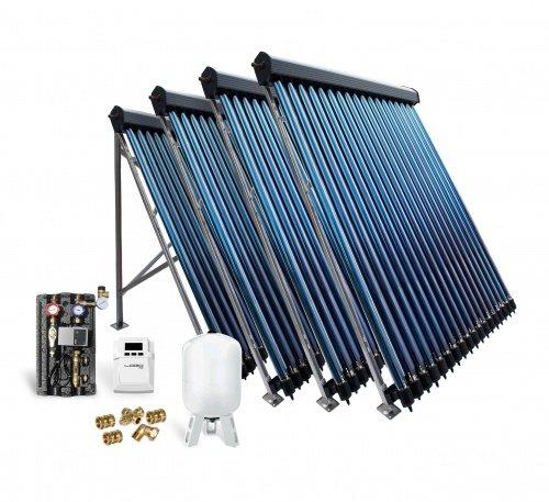 Solaranlage Solarpaket Vakuumröhrenkollektor VK22-4 14,44 m² Röhrenkollektor Kollektor Solar