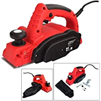 Voche® 710W Electric Power Plane Wood Planer with Parallel Guide and Dust Bag