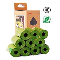 Totaling 150 Dog Poop Bag Extra Thick and Sturdy Dog Feces Bag Pet Biodegradable Environmentally Friendly Garbage Bag Guaranteed Leakproof (150 Pieces)