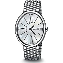 Eberhard Gilda 61008CA2Quartz Clock (Rechargeable) quandrante Steel Mother of Pearl Steel Strap