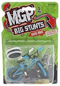 MADD MGP Big Stunts Mini Finger BMX - Finger Whip Scooter Toy - BLUE