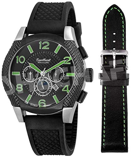 Engelhardt - 387721129016 - Montre Homme - Automatique Analogique - Bracelet différents matériaux Noir