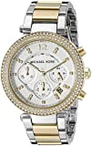 Michael Kors Women's Parker 39mm Two Tone Steel Bracelet & Case Quartz Silver-Tone Dial Watch MK5626