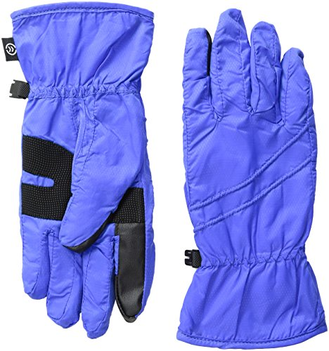 Isotoner Nylon-handschuhe (Isotoner Damen SmarTouch Packable Handschuhe mit smartDRI - Blau - Groß)
