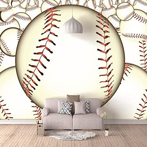 Fototapete 3D Große Baseball Wandbilder Wohnzimmer Sofa Schlafzimmer Kulisse Dekor-Tapete,250cm(W) x175cm(H)-5 Streifen ()