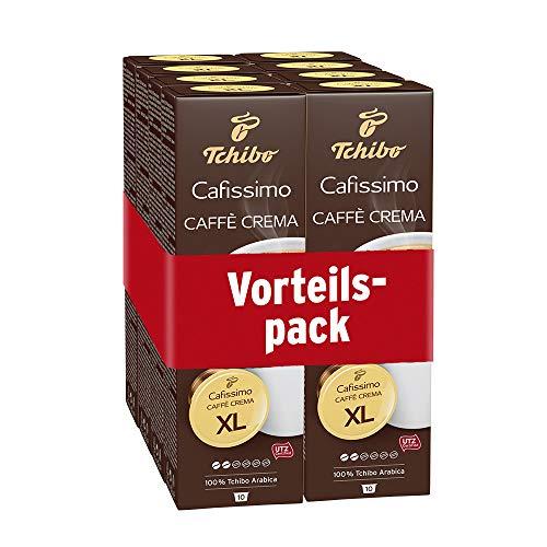 Tchibo Cafissimo Caffè Crema XL Kapseln für große Kaffeebecher, 80 Stück (8 x 10 Kapseln)