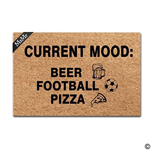 MsMr Felpudo Entrada Felpudo Cerveza fútbol Pizza