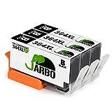 JARBO Remplacer pour HP 364 XL Cartouche d'encre (3 Noir) Grande capacité Compatible avec HP Photosmart 5510 5511 5512 5514 5515 5520 5522 5524 6510 6520 6512 6515 7510 7520 7515 B8550 B8558