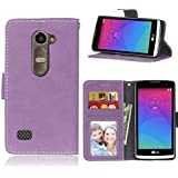 LG Leon 4G LTE H340N C40 C50 Case,BONROY® LG Leon 4G LTE H340N C40 C50 Retro Matte Leather PU Phone Holster Case, Flip Folio Book Case, Wallet Cover with Stand Function, Card Slots Money Pouch Protective Leather Wallet Case for LG Leon 4G LTE H340N C40 C50