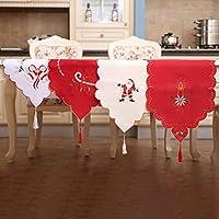 77e4417f675 Footprintse 1pc Table Cloth Bordado Decoraciones de Navidad Mantel Hollow  out Table Runner Cubierta de Tela
