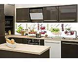 Küchenrückwand Folie selbstklebend GEWÜRZ 260 x 60 cm | Klebefolie - Dekofolie - Spritzchutz für Küche | PREMIUM QUALITÄT