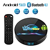 Android 9.0 TV Box, Android Box 4 GB RAM 64 GB ROM, Livebox L1 Plus Quad Core 64 bit Smart TV Box, Wi-Fi-Dual 5G/2.4G, BT 4.1, Box TV UHD 4K TV, USB 3.0 (L1 Plus)
