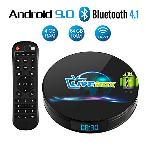Android 9.0 TV Box, Android Box 4 GB RAM 64 GB ROM